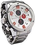 [フランテンプス]Franc Temps 腕時計 ガヴァルニ クロノ ステンレス ホワイト アナログ表示 ビックフェイス 文字盤 10気圧防水 FTGCS-WH メンズ