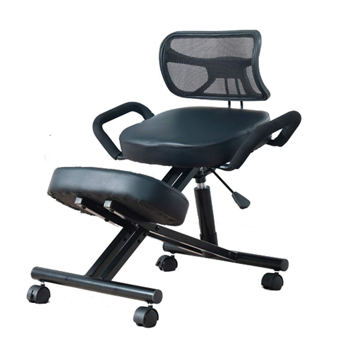 Kneeling Chairs Posture Helps Prevent Coccyx Pain Ergonomic with Handle Cushions Designed Posture with an Angled Office Seat Helps Prevent Coccyx Pain