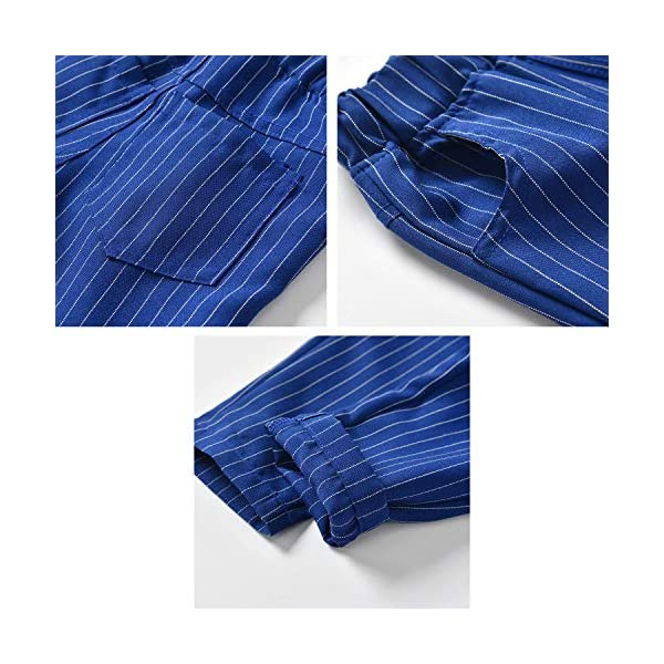Zoerea 3 Pezzi Bambini Ragazzi Abbigliamento Set Camicia con Papillon+Gilet+Pantaloni, Bambino Ragazzo Gentleman Nozze… 4