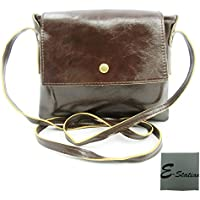 2016 New Style Ladies Women Girls Fashion Mini Mobile Phone Bag Pouch Shoulder Crossbody Messenger Bags Pouch Handbag + E-Station Travel Portable Dust-proof Bag (Dark Brown)