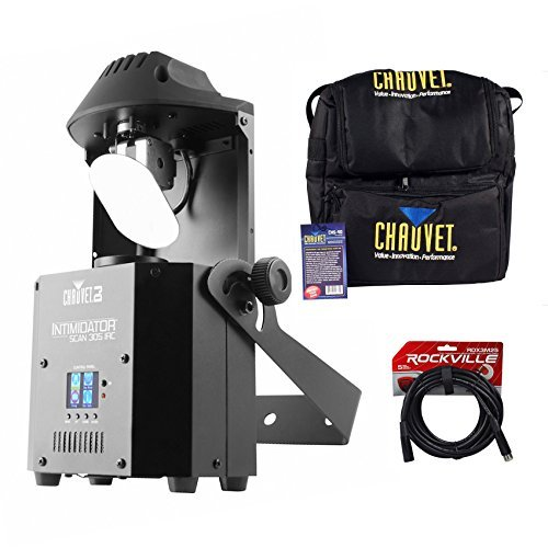 Chauvet DJ Intimidator Scan 305 IRC LED Mirror Scanner FX Light+Case+DMX Cable by Chauvet