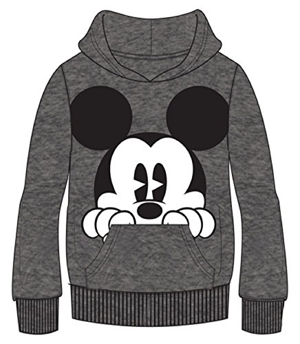Disney Adult Mickey Peeking Pullover Hoodie, Gray (Large, Gray) for $<!--$23.98-->