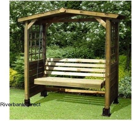 Columpio de banco de madera para jardín: Amazon.es: Jardín