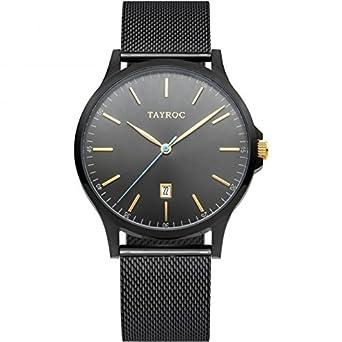 Tayroc Armbanduhr Classic Schwarz TXM108