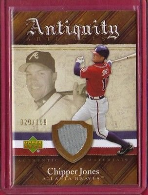 2007 Artifacts Antiquity Artifacts #CJ Chipper Jones - Atlanta Braves