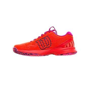 Wilson WRS322510E065, Zapatillas de Tenis para Mujer, Naranja Coral/Fiery Red/Rose Violet, 40 1/3 EU: Amazon.es: Zapatos y complementos