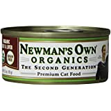 Newman's Own Organics 100% Organic Premium, Beef and Liver Grain-Free for Cats, 3-Ounce Cans (Pack of 24)