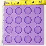 Reusable silicone mold 1 inch circle 16 cavity