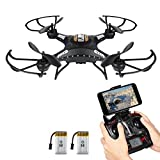 Drone With Camera - Drone with HD Camera, Potensic® F183WH Altitude Hold 4CH Six-Axis RC Quadcopter Drone 2MP Camera Helicopter FPV 2.4GHZ Phone Quadcopter with WiFi, 360 Degree Rollover