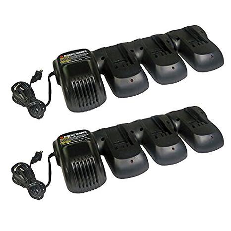Black & Decker (2 unidades) RE18V3PRT cargador de batería de ...