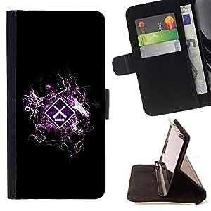 BullDog Case - FOR/Sony Xperia m55w Z3 Compact Mini / - / cool design danger warning /- Monedero de cuero de la PU Llevar cubierta de la caja con el ID Credit Card Slots Flip funda de cuer