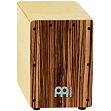 Meinl Percussion SCAJ1NT-EZ Mini Cajon, Exotic Zebrano (8 3/4-Inch Tall)