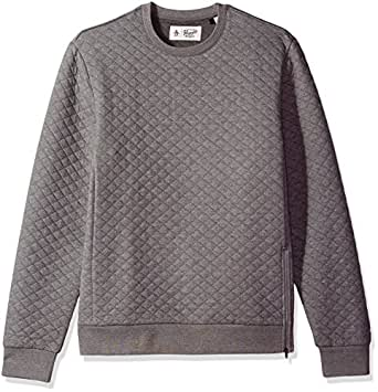 Original Penguin Men's Quilted Long Sleeve Crew Neck Sweater, Griffin, Small