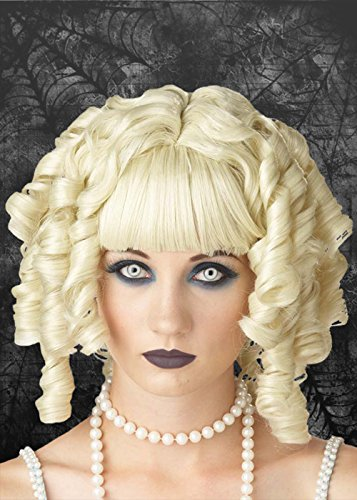 (Ladies Gothic Blonde Curly Ghost Doll)