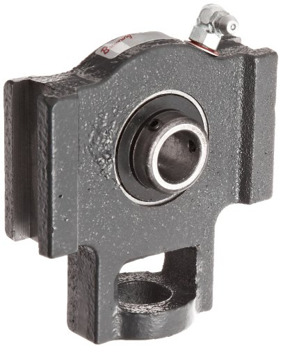 "Browning VTWS-222 Ball Bearing Take-Up Unit, Setscrew Lock, Non-Expansion, Regreasable, Contact and Flinger Seal, Cast Iron, Inch, 1-3/8"" Bore, 17/32"" Slot Width, 3-1/2"" Frame Width"