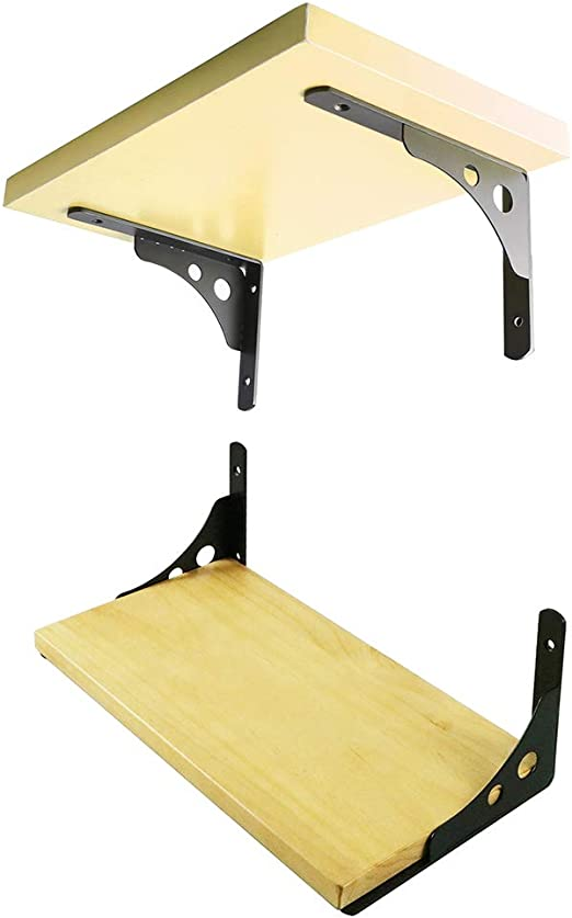 Alise 1 Pair Stainless Steel 4mm-Thick Heavy Duty Shelf Bracket Corner Br.. New
