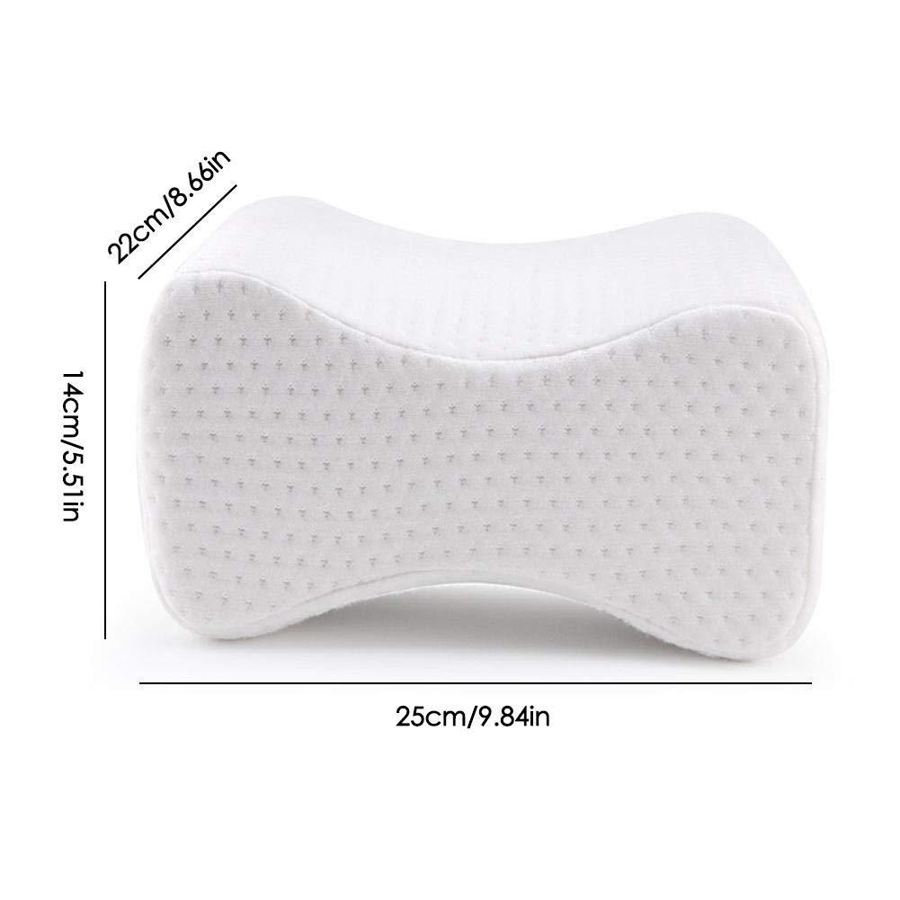 Cuscino ortopedico per ginocchio per traversine laterali,Cuscino per guanciale con contorno di schiuma in memory foam,fornisce sollievo dalla pressione schiuma memoria con rivestimento rimovibile e la