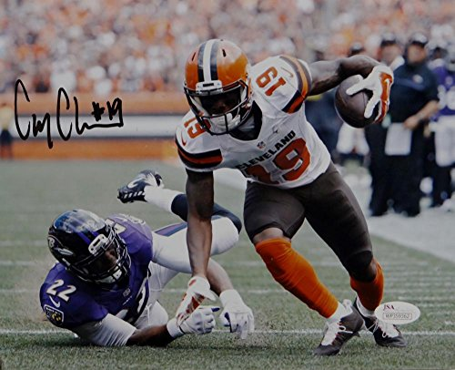 10 Cleveland Browns Jersey - Corey Coleman Signed Cleveland Browns 8x10 Avoiding Tackle PF Photo- JSA W Auth