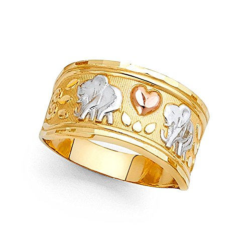 Elephant Tri Color Ring - 7