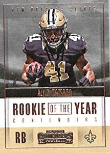 2017 Panini Contenders Rookie of the Year Contenders #10 Alvin Kamara New Orleans Saints Football Card