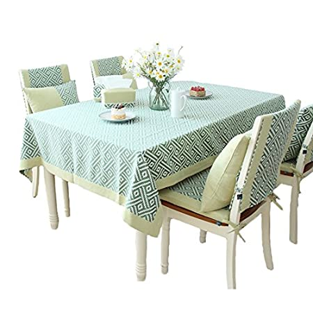 ANDEa Tablecloth Dining Table Small Round Long Picnic Cloth Cover Green