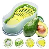 Avocado Slicer, Avocado Saver 5-in-1 Multi-Functional Avocado Tool Set...