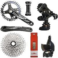 Kit Grupo Bike 9v Sunrace Absolute Hollowtech Integrado 1x9v