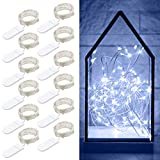 small bedroom decorating ideas Govee 12 Packs Fairy String Lights, 3.3FT 20 LEDs Battery Operated Jar Lights Bedroom Patio Wedding Party Christmas (Cool White)