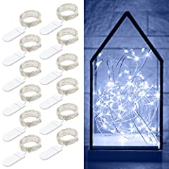 Safe to Touch   With low-heat-emission LED bulbs, The starry fairy lights remain cool and safe to touch even after long hours use.   Easy to Shape   Consisting of 2 insulated silver wires enhances bend it into any shape. It can be shaped ar...