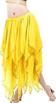 Calcifer - Falda de Gasa para Danza del Vientre de 16 Hojas ...