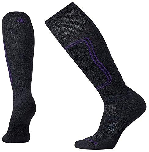 Smartwool Women's PhD Ski Light Socks (Charcoal) Medium (Ski Womens Smartwool Phd)