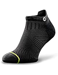 Accelerate Anti-Blister Running Socks for Men and Women Organic Merino Wool & Compression Arch (1 Pair)