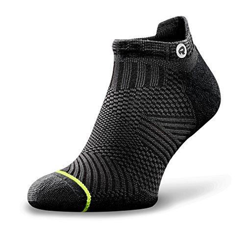 Rockay Accelerate Anti-Blister Running Socks Men Women Organic Merino Wool & Compression Arch (1 Pair)