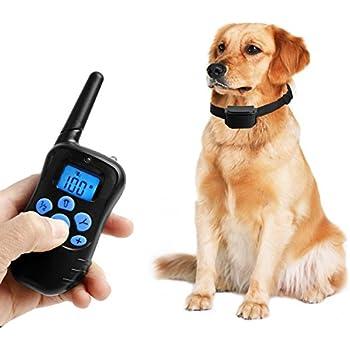 Dog Training Collar,Rechargeable Dog Shock Collar w/ 4 Training Modes,Beep,