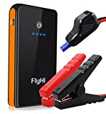 Image of FlyHi 300A Peak 8000mAh Portable Car Jump Starter Power Bank(Up to 2.5 L Gas Engine), with Powerful USB Charging Port, Built-in LED Flashlight and Smart Battery Clamp Cable