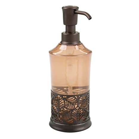 InterDesign Fauna Dosificador de jabón, práctico dosificador de baño con bomba de plástico y dibujo