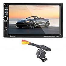 Celendi 7'' HD Touchscreen Double 2 Din Bluetooth Car GPS Navigation Car Stereo Audio Radio 1080P Video Player Support MP4/MP3/FM/USB/TF/Aux In/Hands-free Calls/Rear Camera Input/Remote Control