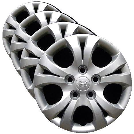 OEM genuino cubierta de la rueda Hyundai – 15-inch Factory repuesto Tapacubos para 2010