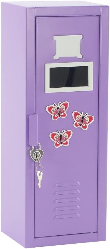 Emily Rose 14 Inch Doll Furniture | Locker Storage 14 Inch Doll Closet with Lock and Key, 5 Doll Clothes Hangers, Mirror and Fun Accessories! | Fits American Girl Wellie Wisher Dolls