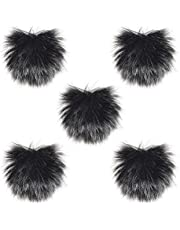 Docooler Furry Outdoor Microphone Windscreen Muff Mini Lapel Lavalier Microphone Windshield, 5-Pack