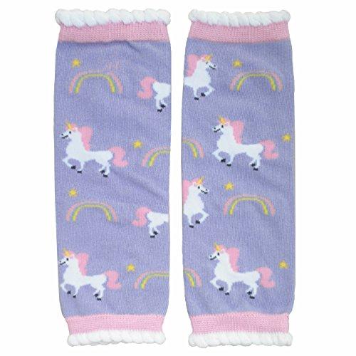 Hugglugs Girls Magical Unicorn Legwarmers,Pink,Regular - fits 6 months to 8 - Leg Girls Warmers