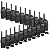 Retevis RT28 2 Way Radios Long Range Rechargeable 16 Channels FRS EmergencyAlarm Security Business Walkie Talkies with USB Wall Charger(20 Pack)