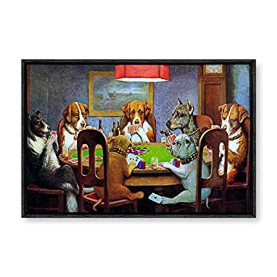 Framed Canvas Wall Art for Living Room, Bedroom Dogs Playing Poker Canvas Prints for Modern Home Decoration Ready to Hang - 16