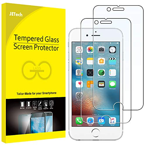 (JETech Screen Protector for Apple iPhone 6 Plus and iPhone 6s Plus, 5.5-Inch, Tempered Glass Film, 2-Pack)