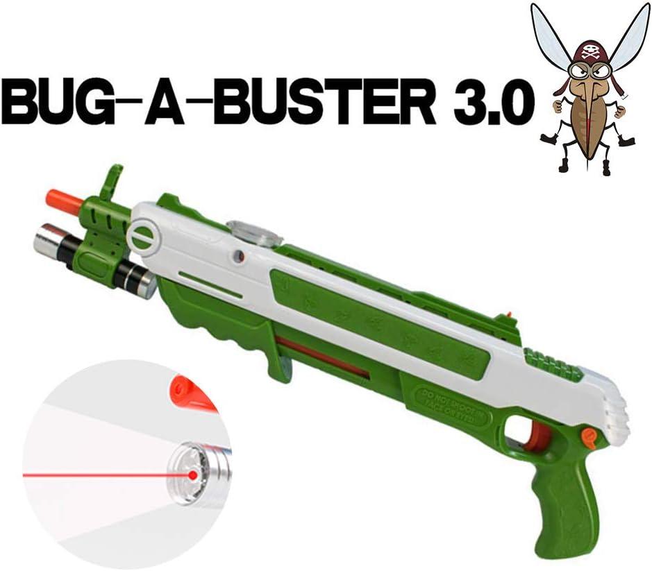 APOKI Pistola 3.0 Creative Mosquito Modelo Adulto Niño Juguete Blow Gun Insectos Erradicación Asesina Balas Blaster Airsoft(con Laser infrarrojo)