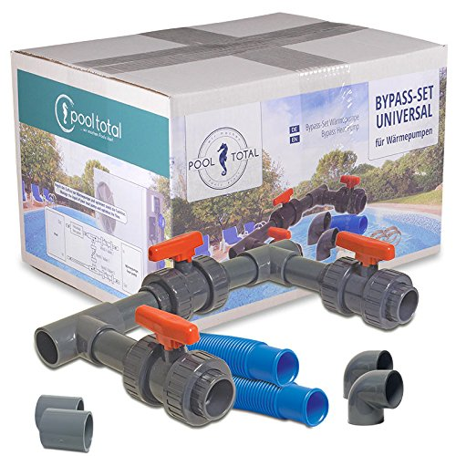 Pool Total basic bypass kit, adapter for pool heating / heat pump / solar heater
