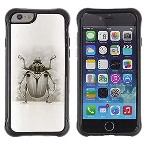 Suave TPU GEL Carcasa Funda Silicona Blando Estuche Caso de protección (para) Apple Iphone 6 / CECELL Phone case / / Bug Beetle Drawing Wings Nature Legs Art /