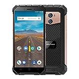 ulefone quad core - Ulefone Armor X Unlocked Cell Phones, Rugged Cell Phones Unlocked Android 8.1 Dual Sim 4G 5.5inch 2GB 16GB 13MP Camera NFC/GPS/GLONASS/Wireless Charge/at& T Mobile, IP68 Waterproof Smartphone Golden