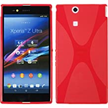 Silicone Case for Sony Xperia Z Ultra - X-Style red - Cover PhoneNatic + protective foils