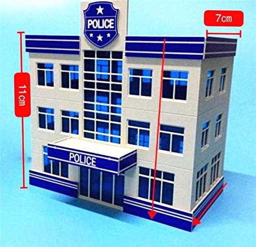 - EatingBiting(R) 1:87 HO Scale Outland Police Office Staion Government Building Morden Model for DIY Sand Table Garden Micro Landscape Ornaments Decor Assembling Model Realism DIY Spray
